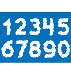 White cloud numbers vector image
