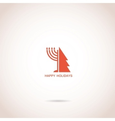 happy Hanukkah and happy holidays vector image
