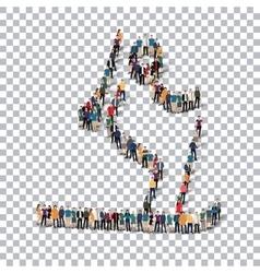 people sports biathlon vector image