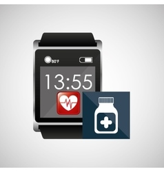 square smart watch health medication container vector image