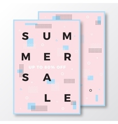 Summer Sale Poster Card or Flyer Template Modern vector image vector image