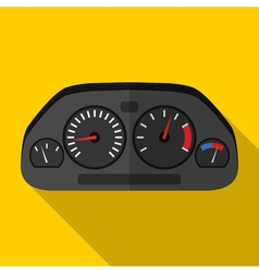 Colorful car dashboard icon in modern flat style vector image