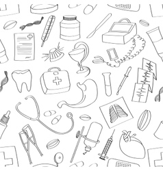 Doodle pattern Medical vector image vector image
