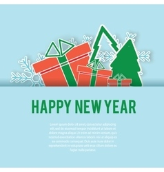 Happy New Year greeting card background vector image