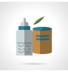 Infant nutrition flat color design icon vector image