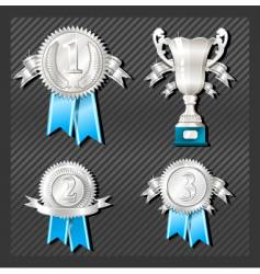 Medals and cup vector