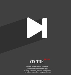 Next track icon symbol flat modern web design with vector