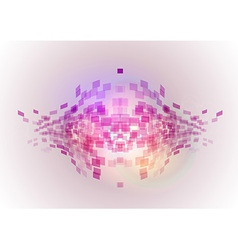 abstract background squares fish vector image vector image