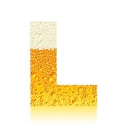 alphabet beer l vector image