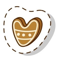 Christmas cookie cake isolated icon vector image