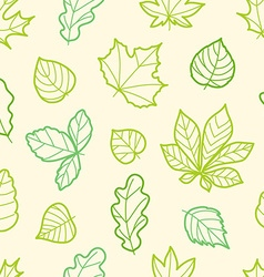 Different summer leaves seamless pattern vector image