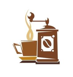 Fresh full roast coffee vector image