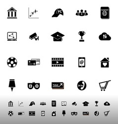 General online icons on white background vector image vector image
