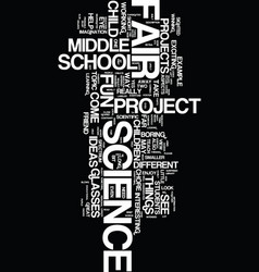 Middle school science fair projects text vector