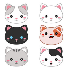 animal faces vector image vector image