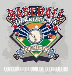 baseball grandslam tournament vector image