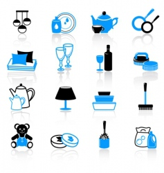 homework icons vector image vector image