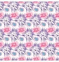 Spring wild velvet and rose flower field seamless vector image vector image