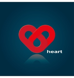 symbol of red heart vector image