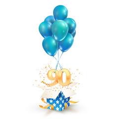 90th years celebrations greetings ninety vector