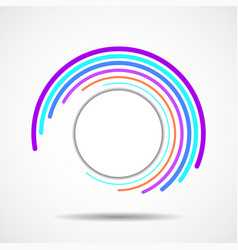 abstract colorful technology spiral lines in vector image