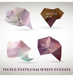 Abstract polygonal triangles speech bubbles EPS10 vector