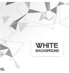 abstract white gray triangle white background vect vector image