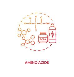 Amino acids concept icon vector