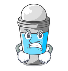 Angry deodorant rolls on in character bags vector