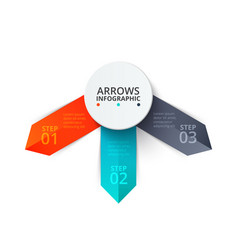 arrows infographic template for diagram vector image