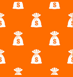 bag with dollars pattern seamless vector image