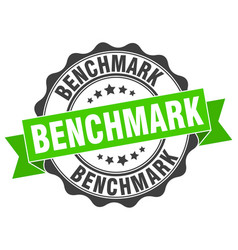 Benchmark stamp sign seal vector