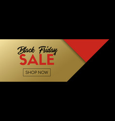 black friday sale long banner abstract vector image