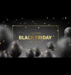 black friday sale promo banner vector image