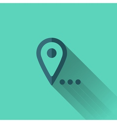 Blue map pointer icon flat design vector