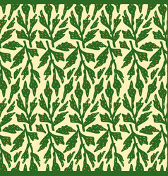 botanical leaves seamless pattern design seamless vector image