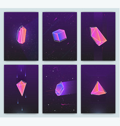 bright backgrounds with retro futuristic neon vector image