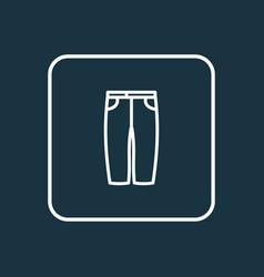 Capris icon line symbol premium quality isolated vector