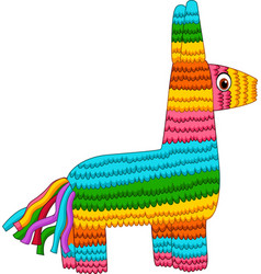 cartoon colorful pinata isolated on white backgrou vector image