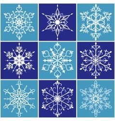 Christmas snowflake icon set vector