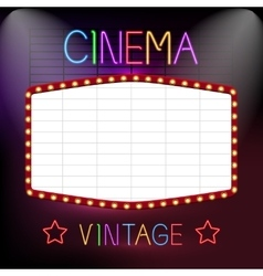 Cinema Neon Sign vector image