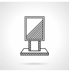 Citylight line icon vector image