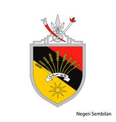 Coat arms negeri sembilan is a malaysian vector