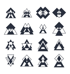 Collection of geometric shapes Trendy design vector image