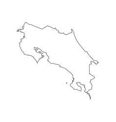 Costa rica map silhouette vector