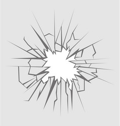 Crushed glass vector
