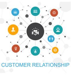 Customer relationship trendy web concept vector
