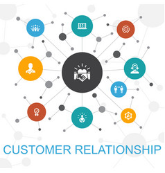 Customer relationship trendy web concept with vector