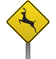 Deer crossing sign vector