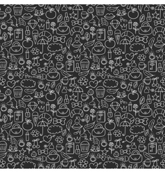 Doodles seamless pattern set vector image